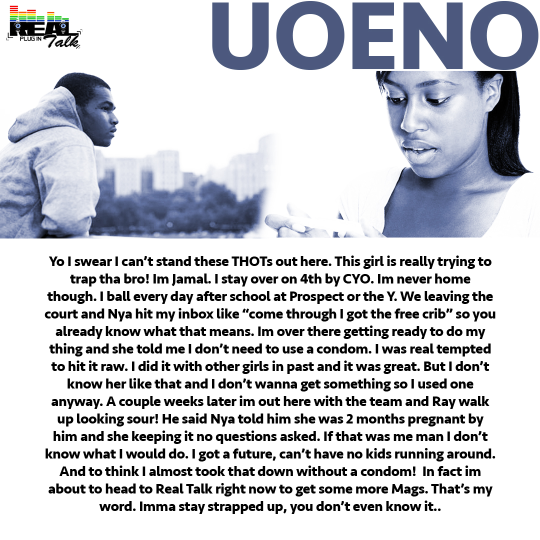 Image of a man and woman with the title 'Uoeno' with accompanying text. Described under the heading 'Uoeno'.